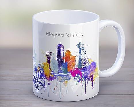 Amazon.com: Taza de café de Niagara Falls City Ontario ...