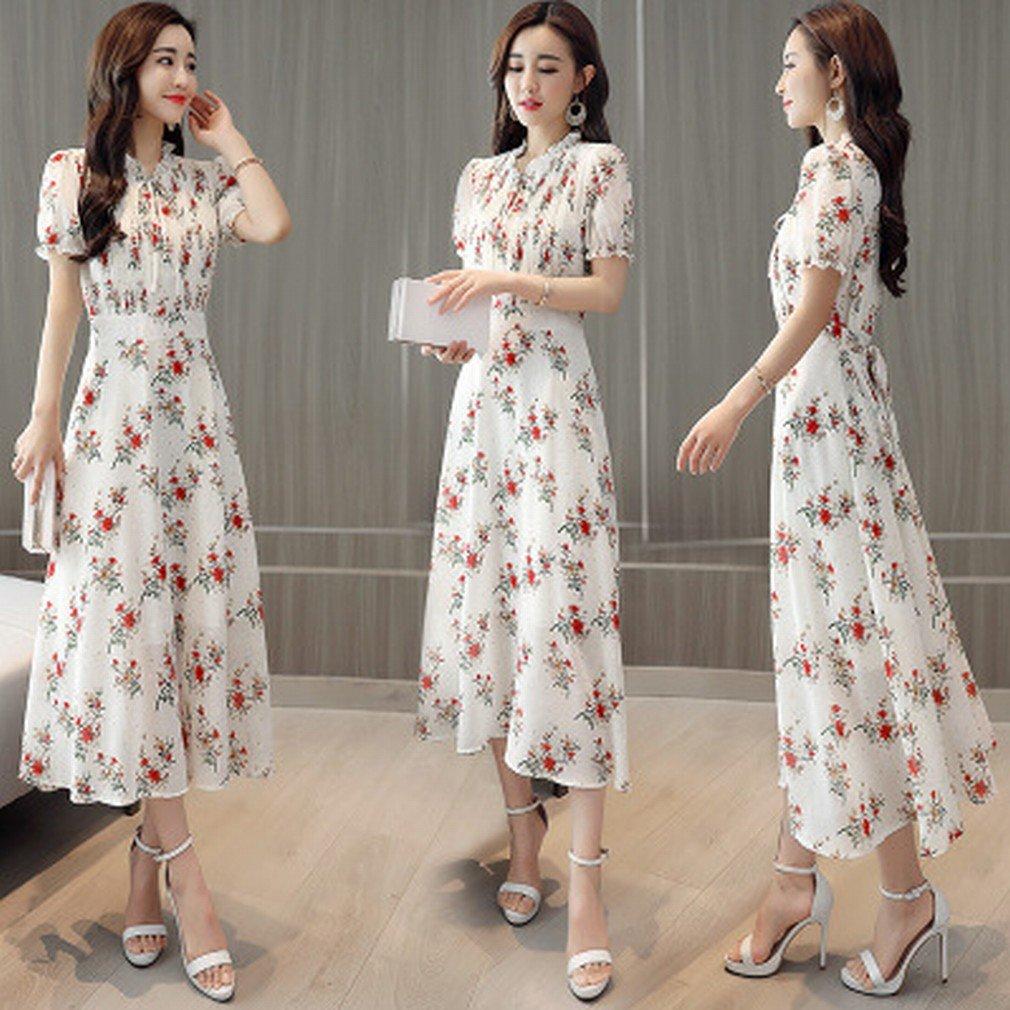 199a782427 Temperamento Floral Gasa Vestido Mujer Primavera Vestidos Primavera  Vestidos Vestidos Largos Verano  Amazon.es  Deportes y aire libre