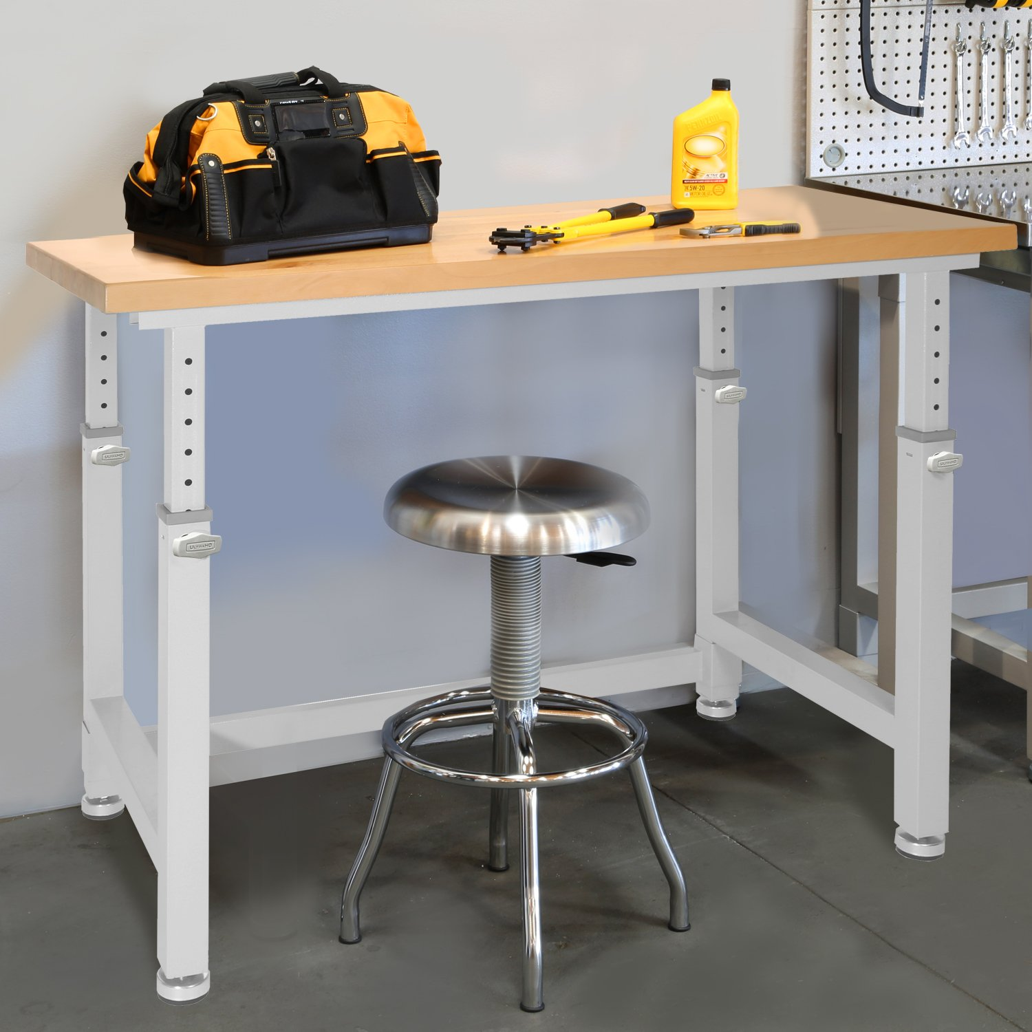 UltraHD Adjustable Height Heavy-Duty Wood Top Workbench, 48'' x 24'' by Seville Classics (Image #2)
