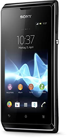 Sony Xperia E Smartphone (8,9 cm (3,5 Zoll) Touchscreen, Qualcomm, 1GHz, 512MB RAM, 4GB HDD, 3,2 Megapixel Kamera, Android 4.
