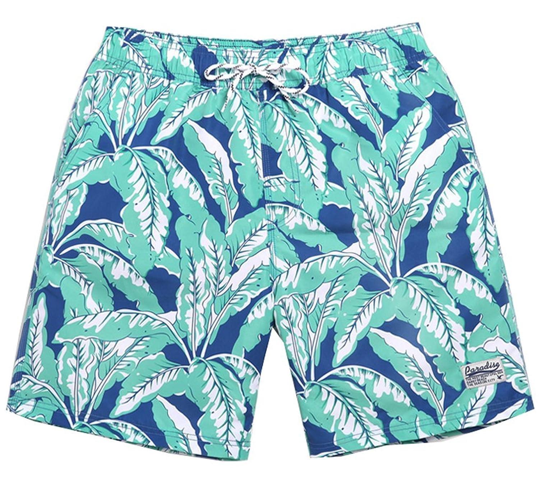 72d39552c0 delicate Wishwhat Men's Leaves Summer Swim Trunks Swim Shorts ...