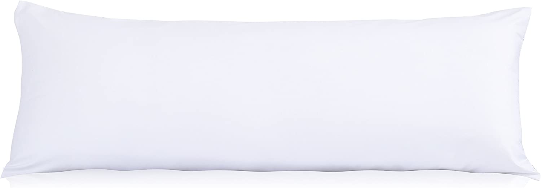 EVOLIVE Ultra Suave Microfibra Cuerpo de la Almohada Cubierta/Fundas de Almohada con Ocultos Cierre de Cremallera Blanco 21