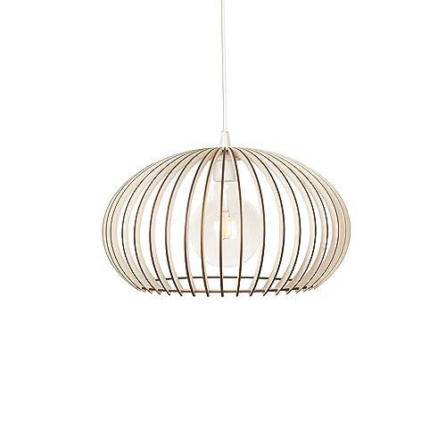 KWUD Modern Scandinavian Style Ceiling Mount Wood Pendant Lighting Lamp Shade with E26//27 Base