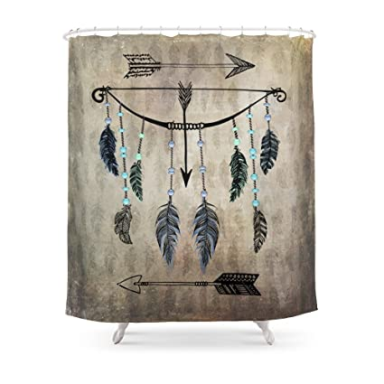 Society6 Bow Arrow And Feathers Shower Curtain 71quot