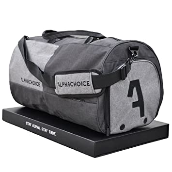 5d72986497 ... Alphachoice Sports Bag 43 L – Fitness Bag – Travel Bag Large with Shoe  Compartment for ...