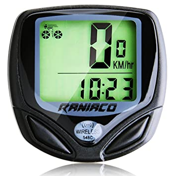 d82d9b671 Ordenador para Bicicleta, Velocímetro Inalámbrico de Bicicleta,  Cuentakilómetros para Bicicleta de múltiples Funciones para el Ciclismo  (A-Negro): ...