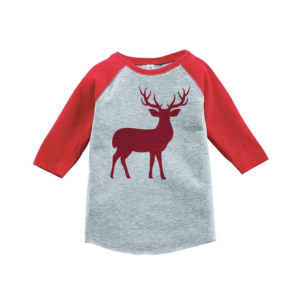 Custom Party Shop Youth Red Deer Christmas Raglan Shirt Red