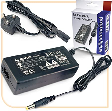 SDR-T70PC Cable PS Wall Home Charger SDR-T70K SDR-T70P SDR-T70EP Omnihil AC//DC Power Adapter Compatible with Panasonic Digital Camera SDR-T70EG
