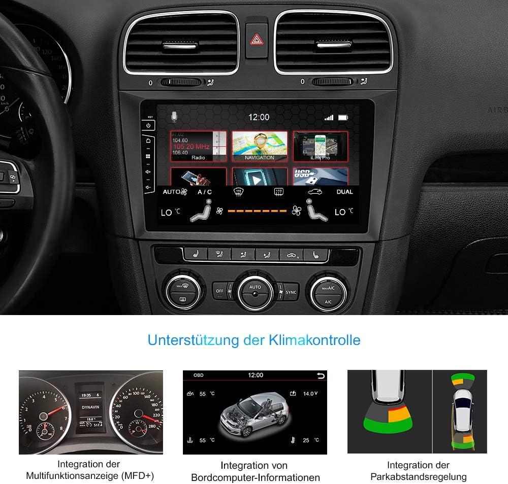 DYNAVIN DIX-V-DF31 Pro 9 inch autoradio Navi GPS navigatie: ondersteuning  van DAB + digitale radio iOS Android Auto BT achteruitrijcamera Ready USB  voor VW Golf 6 / Golf VI/Golf VI Cabriolet: Amazon.nl