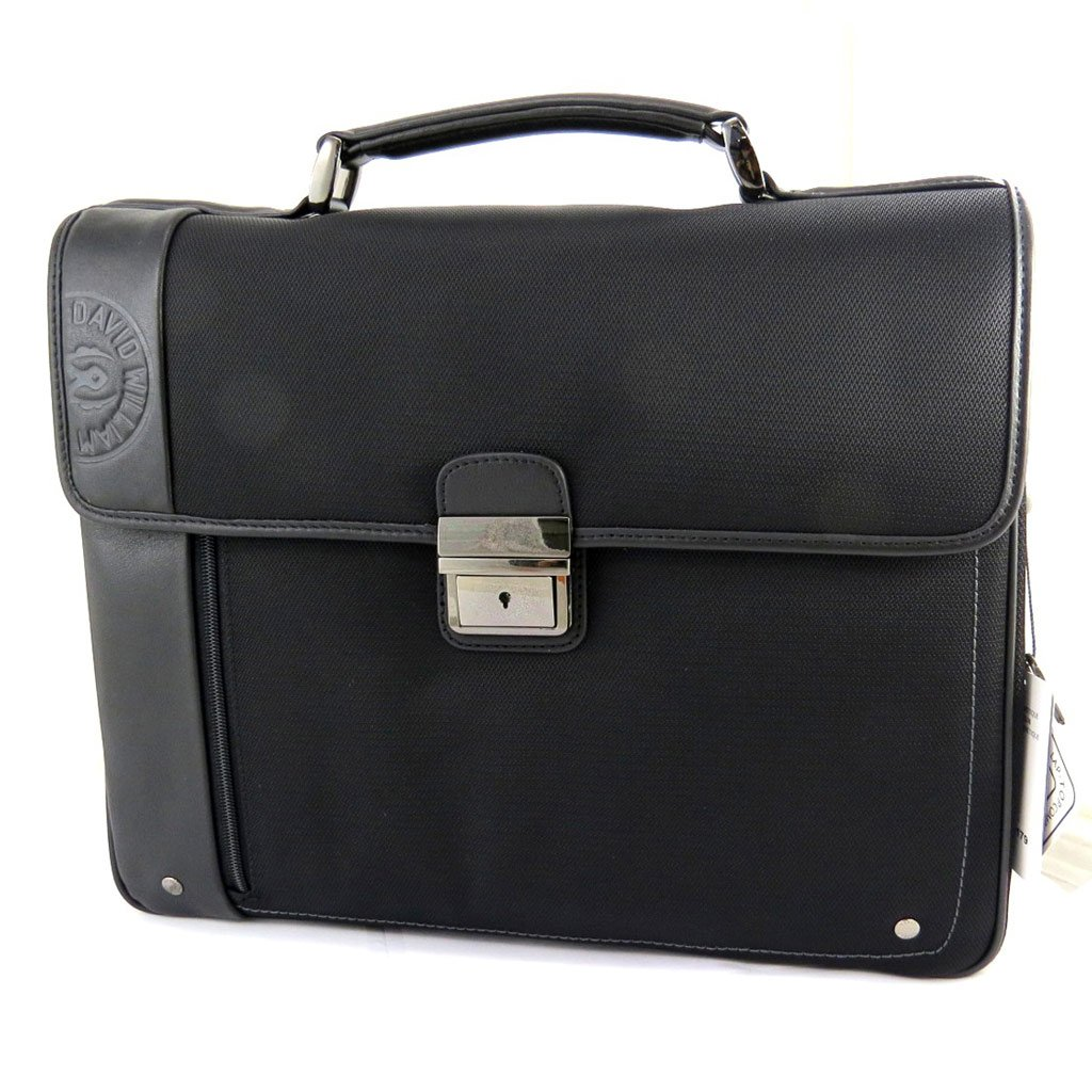 Special briefcase 'David William'black (2 folds).