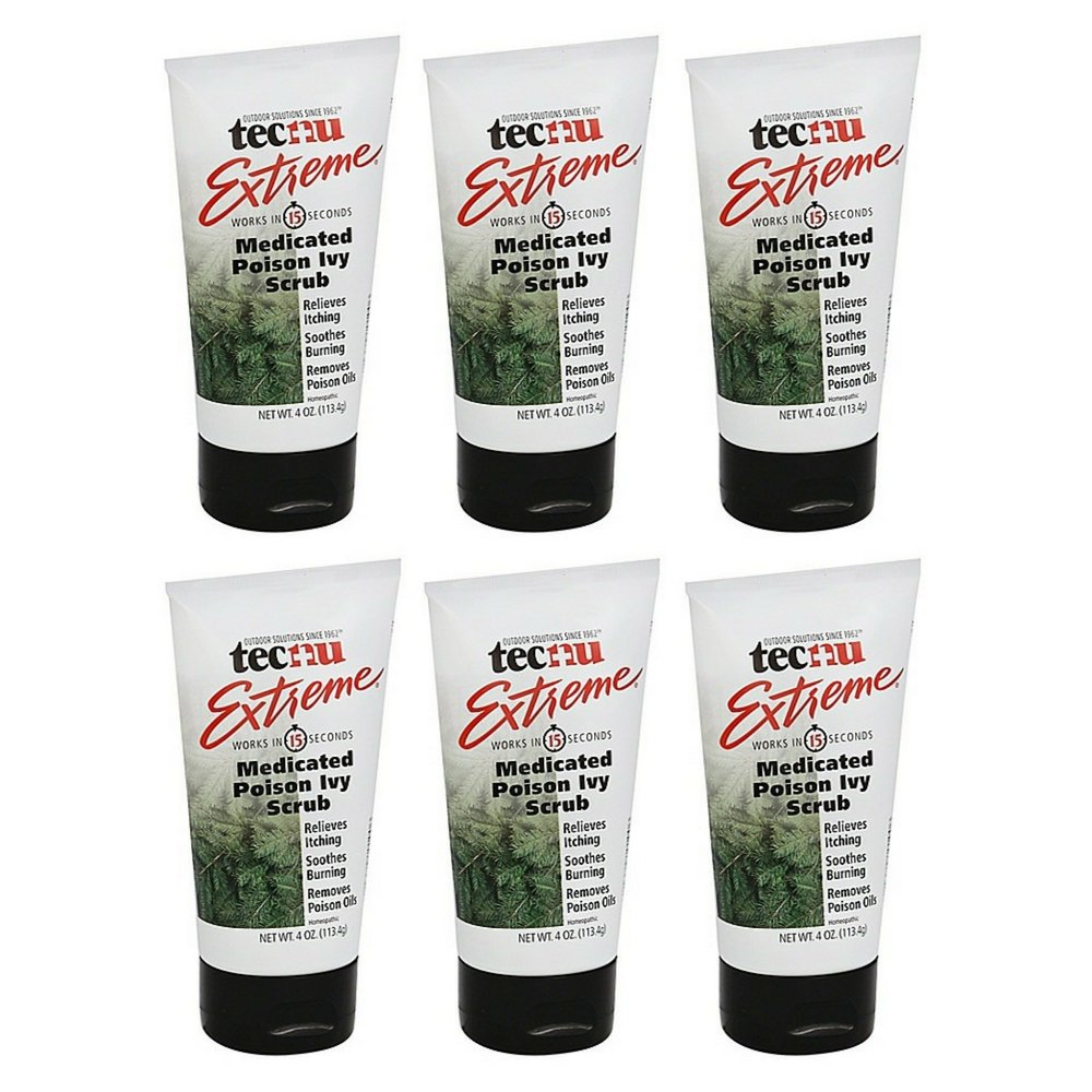 Tecnu Extreme Medicated Poison Ivy Scrub (4 oz) (6 pack)