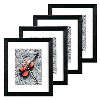 Amazon.com - Black Portable Home Picture Frame 8 x 10 inch Pack of 4 ...