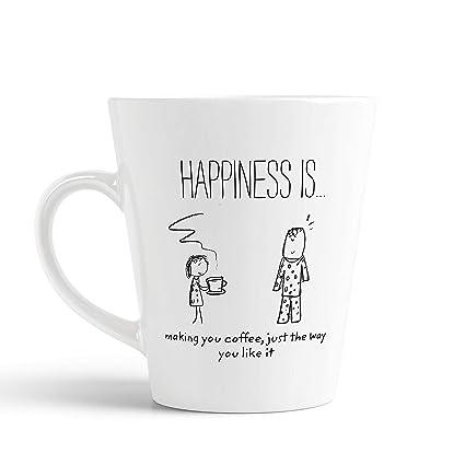 buy ikraft coffee conical mug cartoon inspirational quotes happy