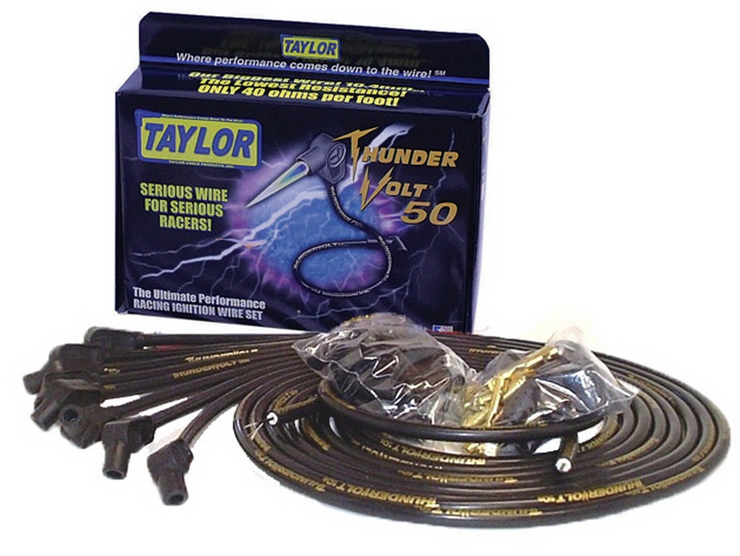 Taylor Cable 98053 Thundervolt 50 Series Ignition Wire Racing Wiring Set Automotive