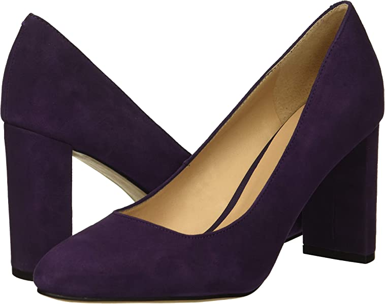 d7acd61b5328 Franco Sarto Women s Vanity Pump Purple 5 M US. Back. Double-tap to zoom