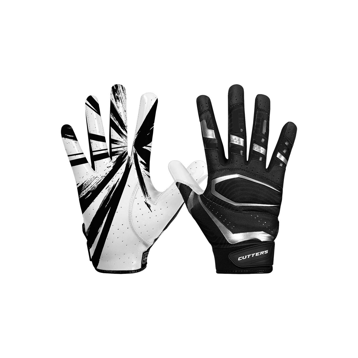 Cutters Gloves, Black/White, Medium by Cutters