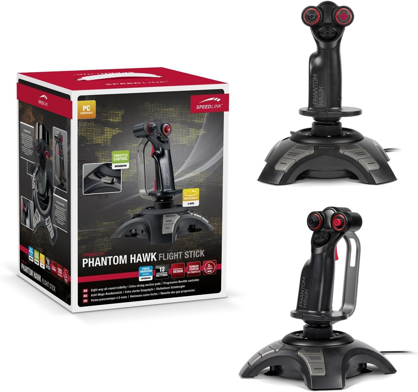 Speedlink Sl 6638 Bk Phantom Hawk Gaming Flightstick Computers Accessories