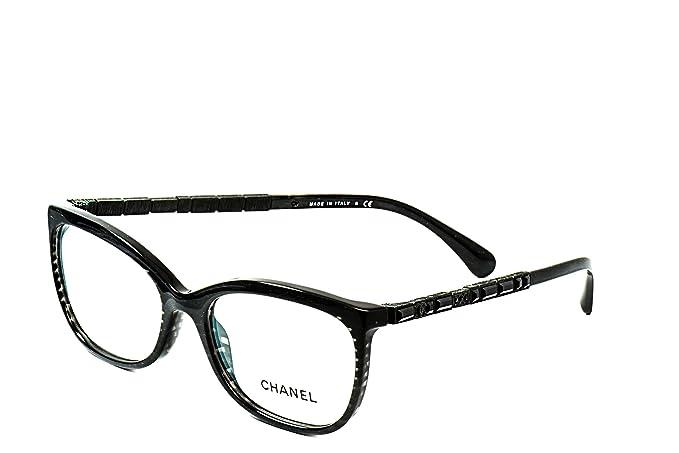 Chanel Designer Womens Frames CH 3305-B C1443 54mm Black: Amazon.ca ...