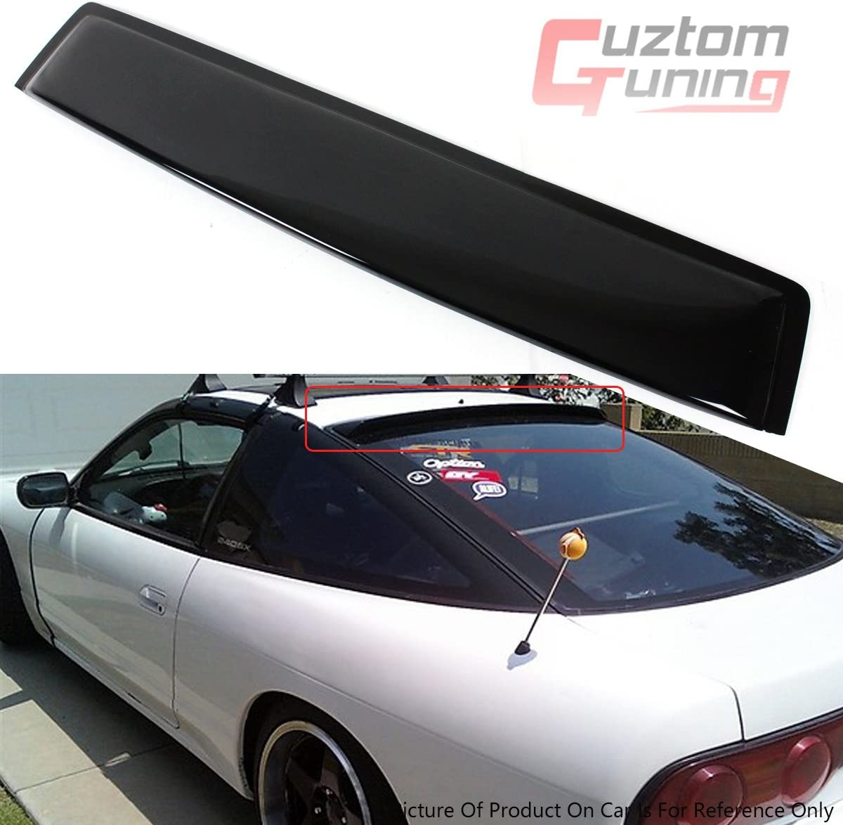 89-94 Nissan 240SX S13 Silvia Coupe Rear Roof Window Visor Spoiler
