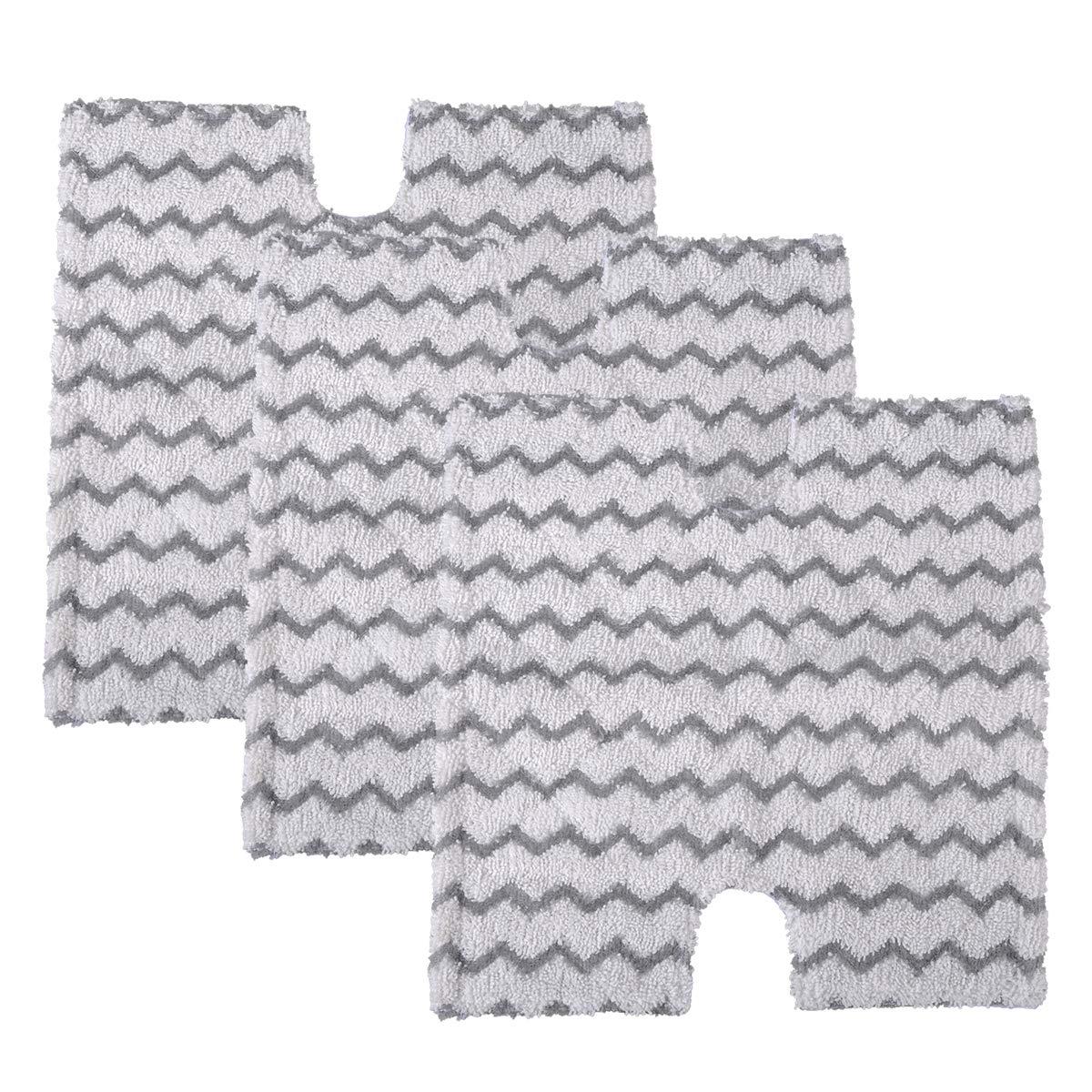 KEEPOW 3 Pack Steam Mop Pads Replacement for Shark Lift-Away & Genius Steam Pocket Mop S3973D S6002 S5003D S6001 S6003 S5001 S5002 S3973WM