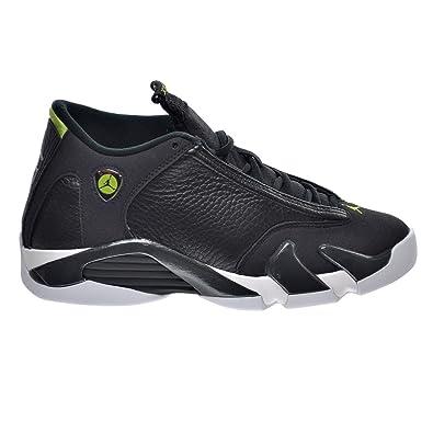 c3f859ae35cd Jordan Air 14 Retro Indiglo BG Big Kid s Shoes Black White Green 487524-