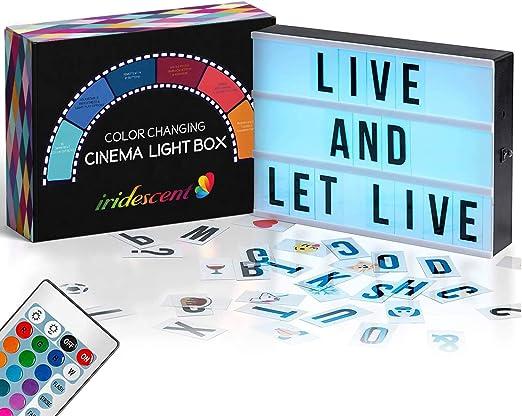 Amazon.com: Caja de luz de cine que cambia de color con ...