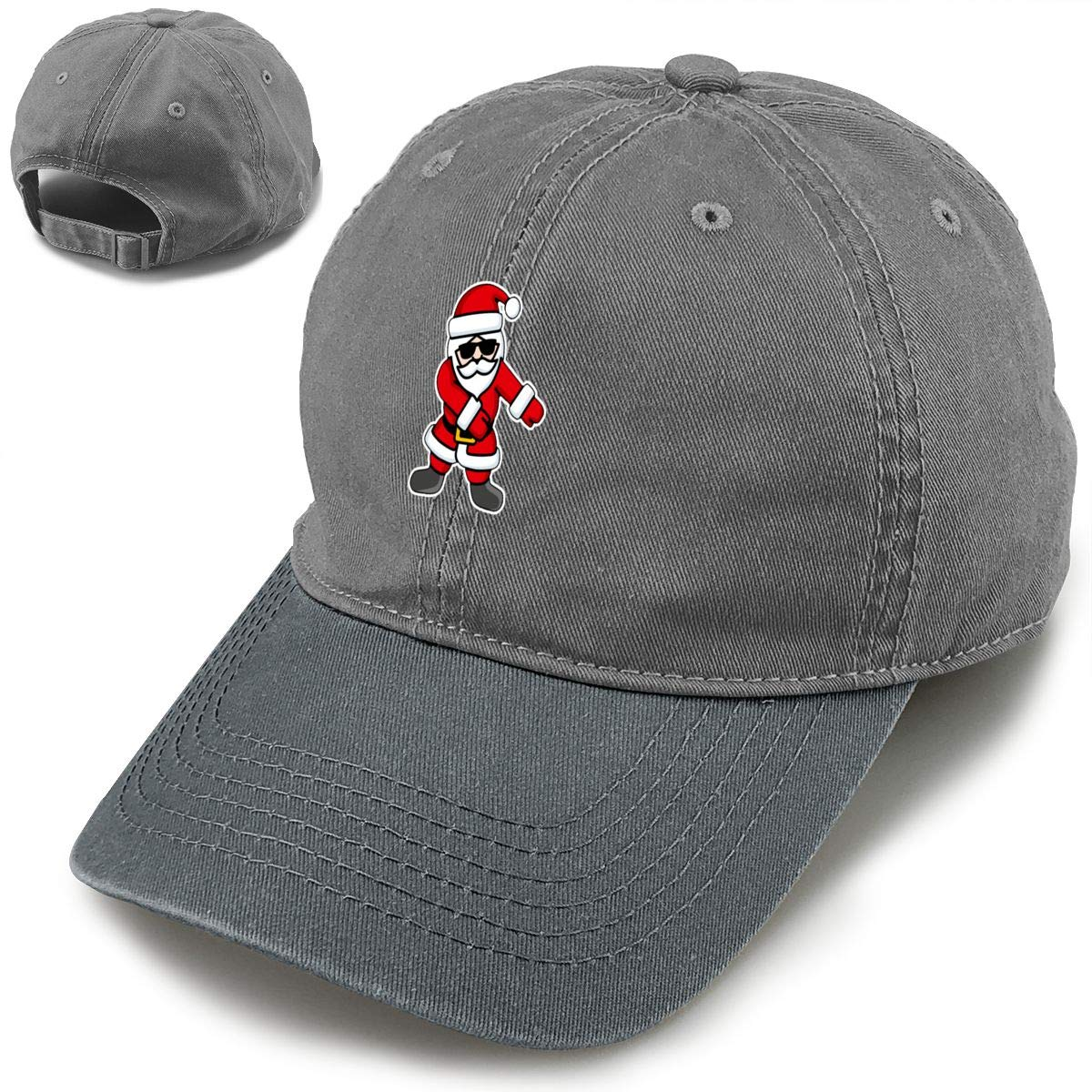 Here Comes Santa Floss Dance Flossing Santa Claus Classic Vintage Jeans Baseball Cap Adjustable Dad Hat for Women and Men