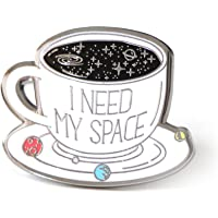 Lapel Pin I Need My Space Coffee Cup With Planets Solar System For Space Lovers