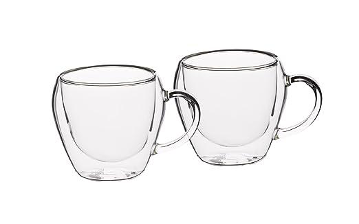 2 opinioni per Kitchencraft Le' Xpress isolante a doppia parete tazze di tè, 230ml (Set di 2)