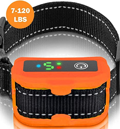 Smart Bark Collar for Dogs – 5 Adjustable Sensitivity Levels of Vibration and No Harm Shock – Upgraded with Detection Technology – Barking Dog Deterrent for Small, Large Dogs