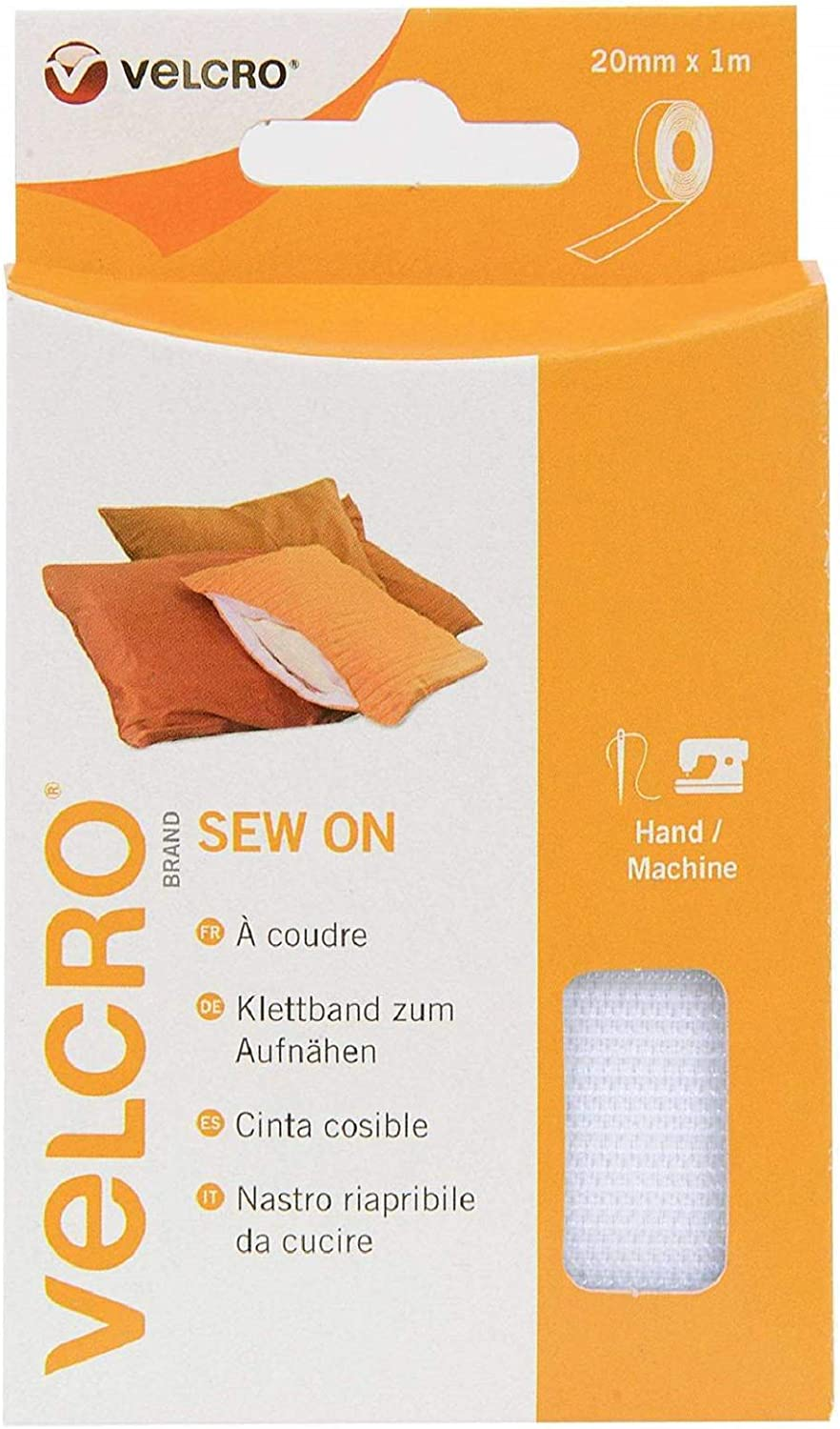 VELCRO® Brand Snag Free Sew On Tape White 20mm x 3m