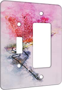 Elements of Space Dragonfly Jewels Metal Wall Plate - 2 Gang 1 Switch 1 Decora Combo
