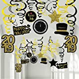 30 Pcs New Year Hanging Swirl Decorations Party