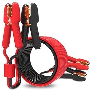 MATCC Câbles de Démarrage 3m 800A Cuivre avec pinces isolées Clips Crocodile Câbles Démarreur de Voiture Câble D'aide au Démarrage pour Voiture,Van