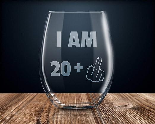 Regalo para 18 cumpleaños, copa de vino de 325 ml, fiesta de ...