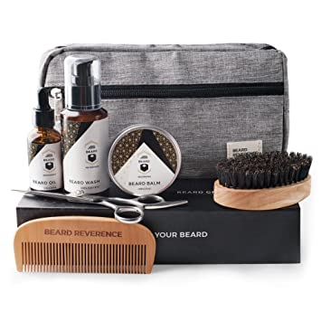 Premium Beard Grooming Kit with Upgraded Travel Bag - All Natural Beard  Oil 1a72960d86459