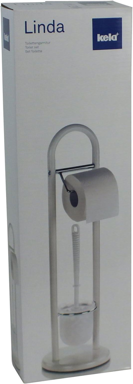 Weiß KELA 20975 Linda Toilettengarnitur