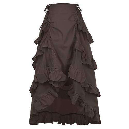 Belle Poque Womens Gothic Steampunk Vintage Cotton Skirts Gypsy Hippie GF222