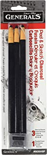 product image for Peel & Sketch Charcoal Pencils 3/Pkg-