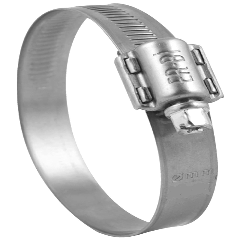 10 Stück Schlauchschelle Ø 23-35 mm, Edelstahl W4 V2A Bandbreite 13 mm, DIN 3017, Industriequalität, mit Schneckengewinde ER-BI® Industriequalität