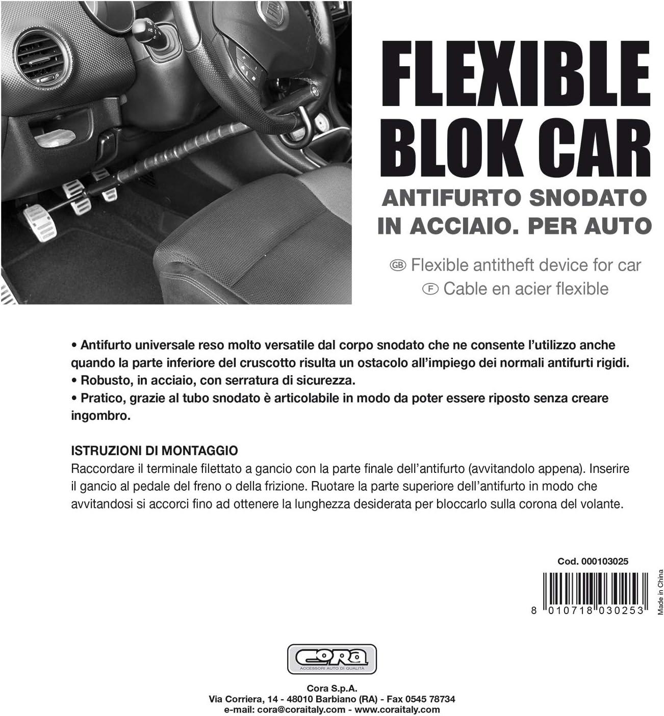 Barra antirrobo bloqueo de volante//pedales para coche CORA 000103025 Flexible Block Car
