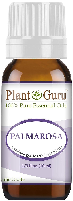 Palmarosa Essential Oil. 10 ml. 100% Pure, Undiluted, Therapeutic Grade. by Plant Guru B00GM0RTGU