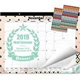 """Oriday 2018-2019 Monthly Yearly Desk Calendar, Wall Calendar + 2 Sets of Stickers - to-Do List Notepad (15Months - October2018 to December 2019, 22"""" x 17"""", Academic)"""