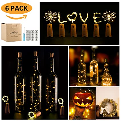 Wine Bottle Lights With CorkLED Cork For 6 PackCopper Wire