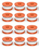 """Quickload 0.065"""" Spool for WORX String Trimmers (Replacement Autofeed Spool), 12-Pack (compatible with WA0010)"""