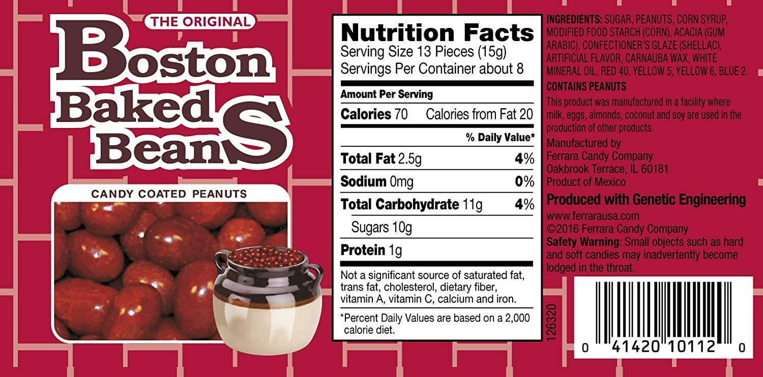 Amazon Com Boston Baked Beans Candy Coated Peanuts 4 3 Ounce Pack Of 12 Grocery Gourmet Food