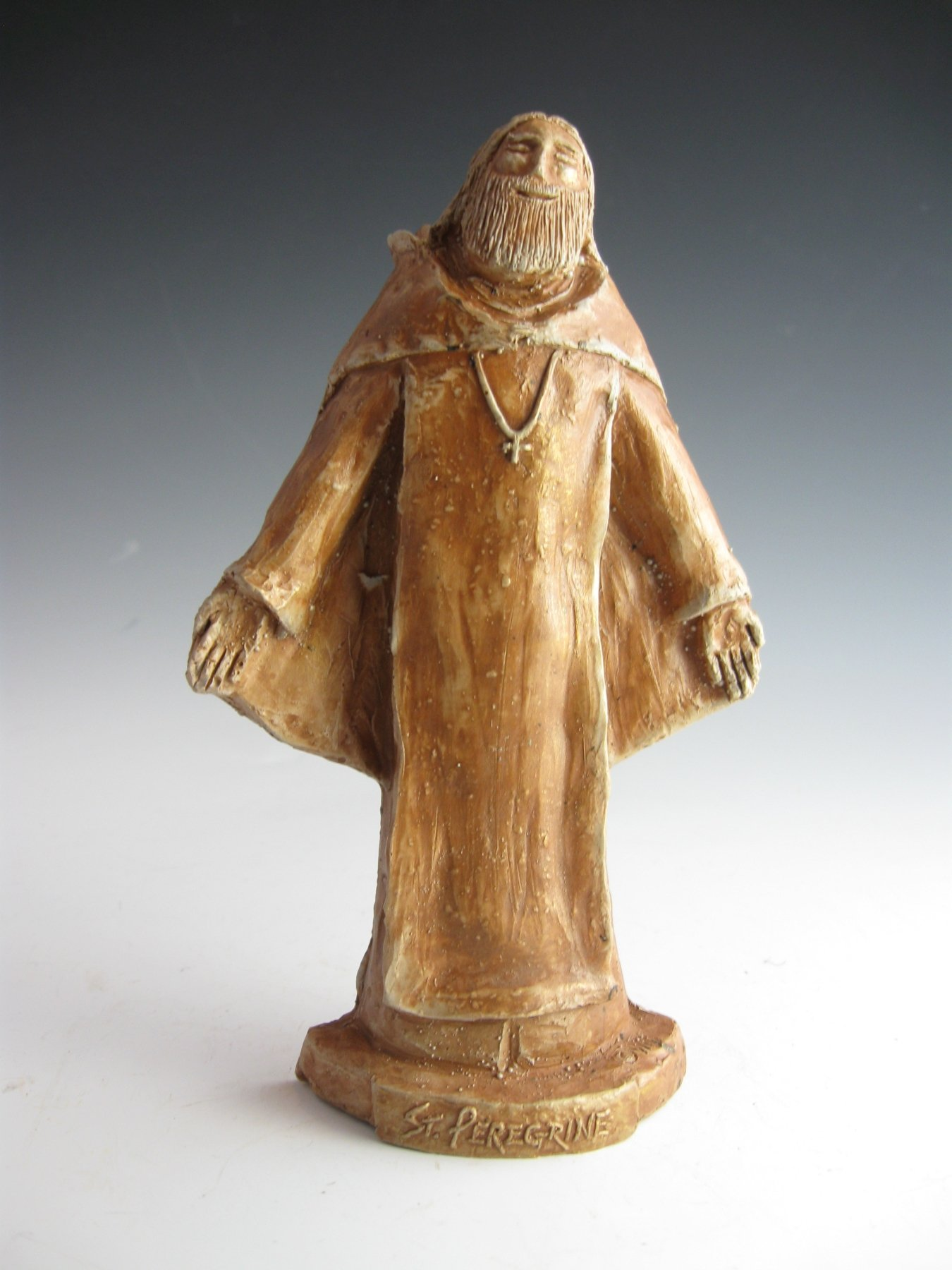 St Peregrine, Patron Cancer Patients & Those Cured, Handmade Statue