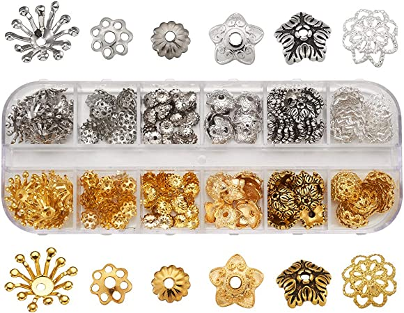 50-5-6mm Gold Plated Filligree bead caps 3010005 - FBG2-6-01