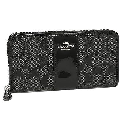 8d3d55498bc268 Amazon   [コーチ]長財布 アウトレット レディース COACH F35443 SVDK6 グレー ブラック [並行輸入品]   COACH( コーチ)   財布