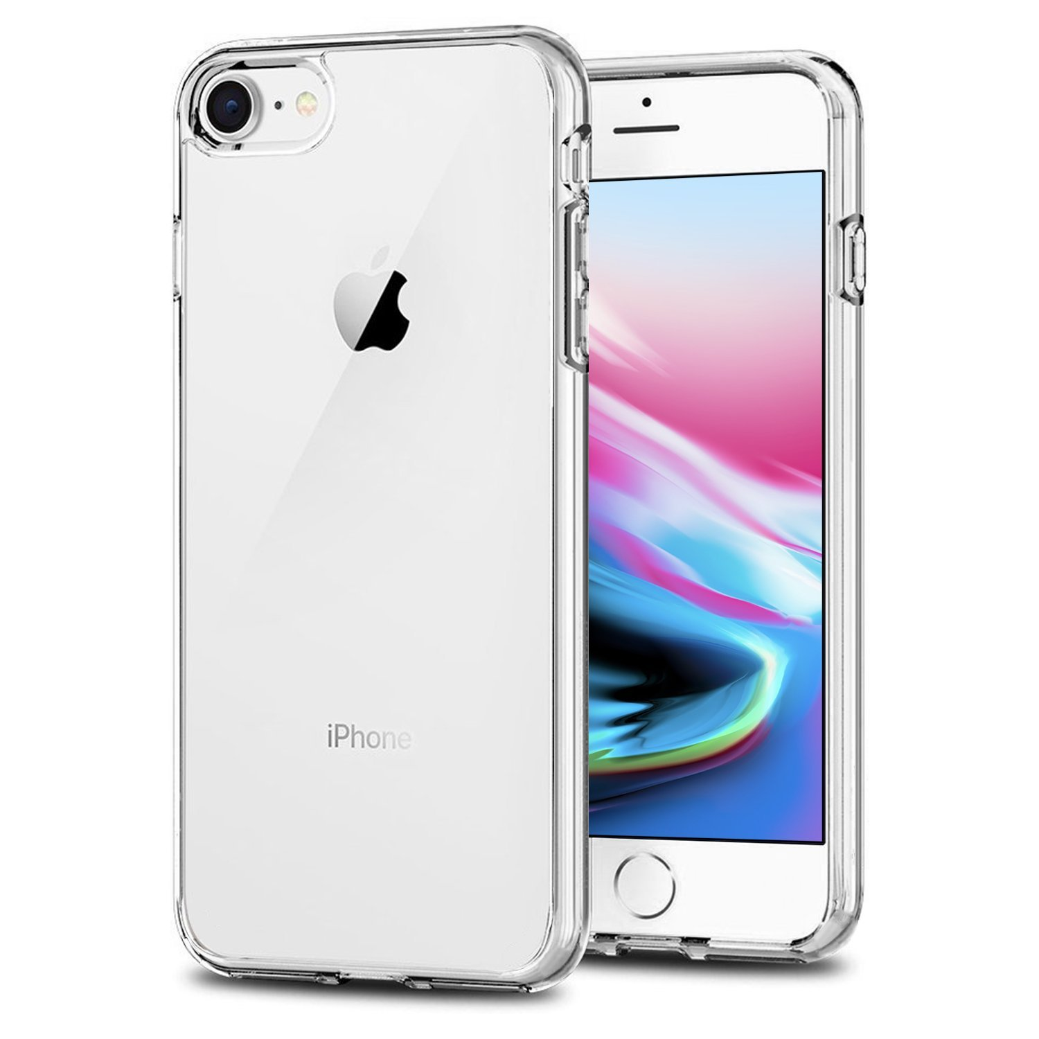 TENOC Case Compatible for Apple iPhone 7 and iPhone 8 4.7 Inch, Crystal Clear Soft TPU Cover Full Protective Bumper by TENOC (Image #1)